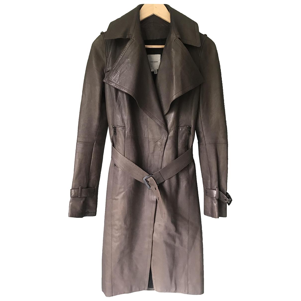 Costume National - Manteau   pour femme en cuir
