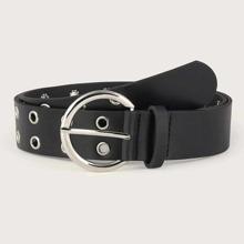 Kids Eyelet Decor Buckle Belt