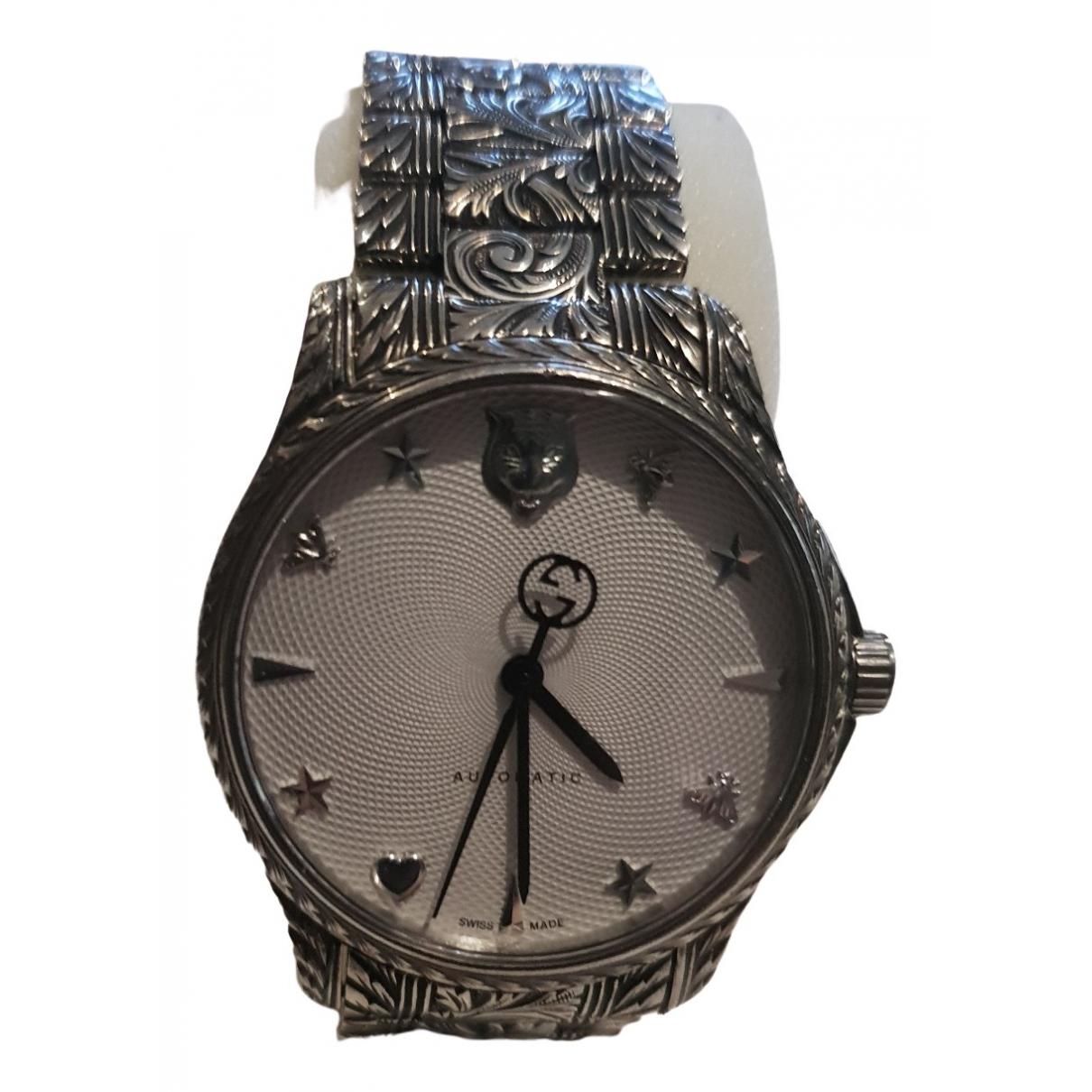 Gucci - Montre G-Timeless pour homme en acier - argente