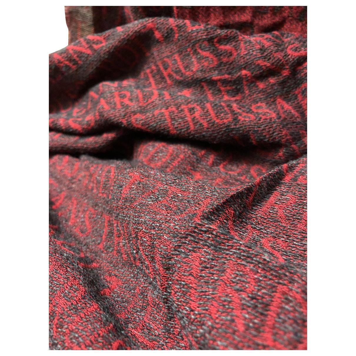 Trussardi \N Burgundy scarf & pocket squares for Men \N