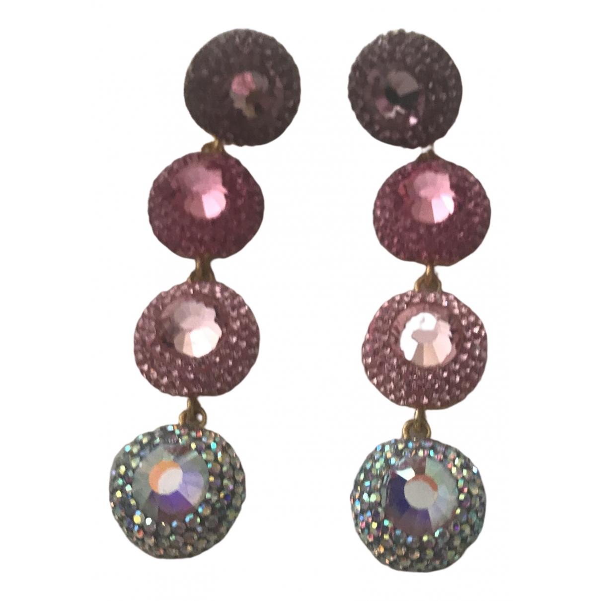 Soru \N Multicolour Silver Plated Earrings for Women \N