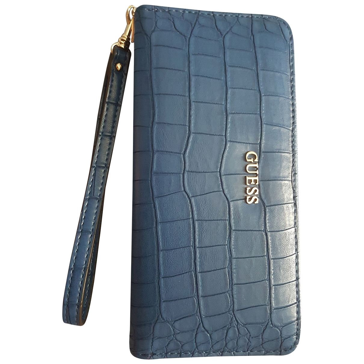 Guess \N Portemonnaie in  Blau Leder