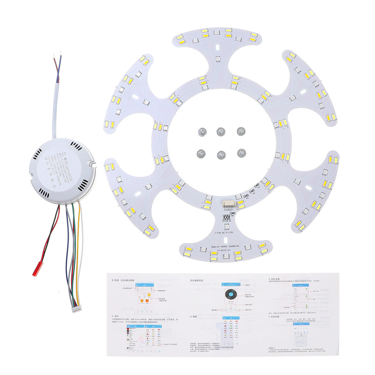 36W bluetooth Ceiling Light LED Panel with Magnet Warm White Cold White RGB AC90-245V