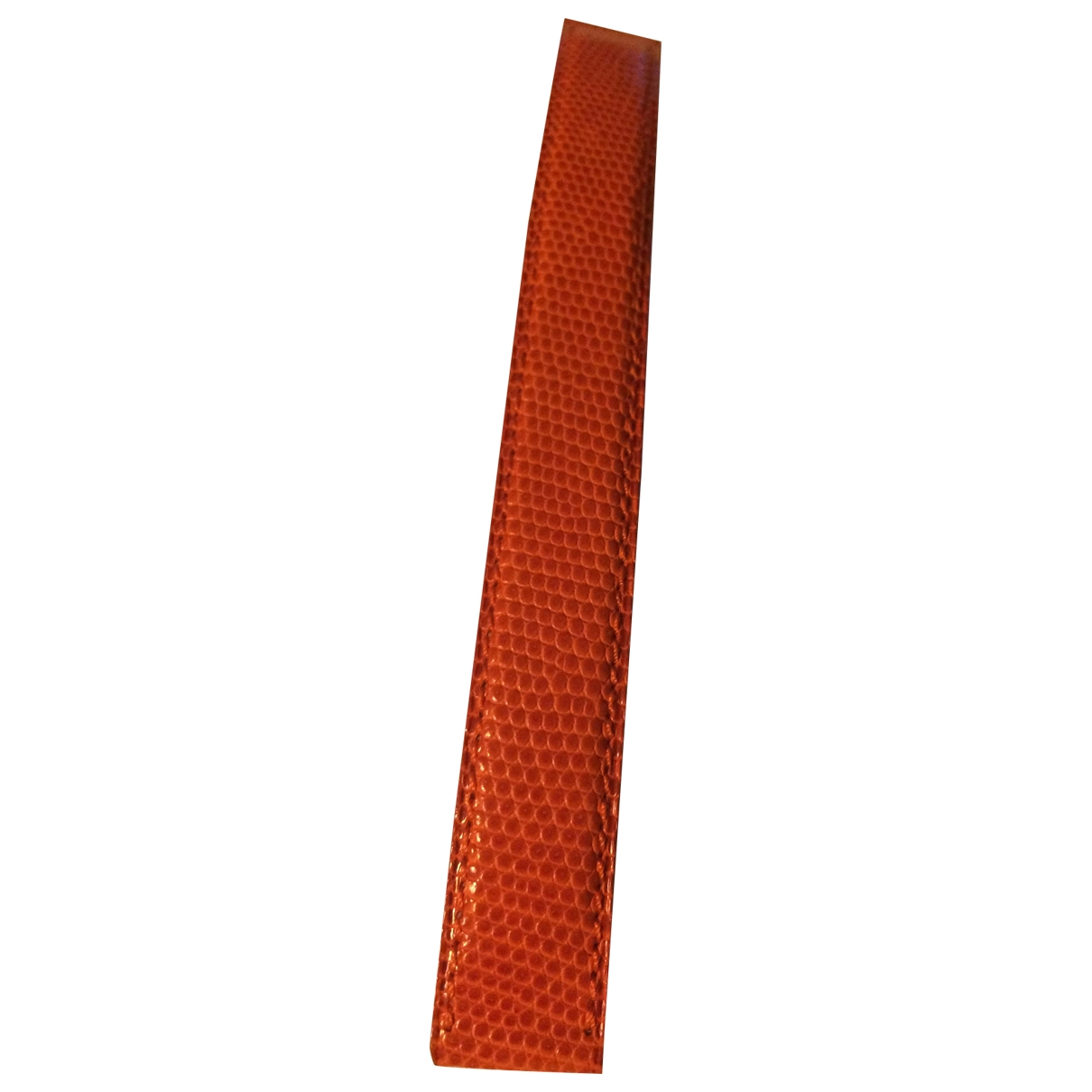 Poiray - Montre   pour femme en cuir - orange