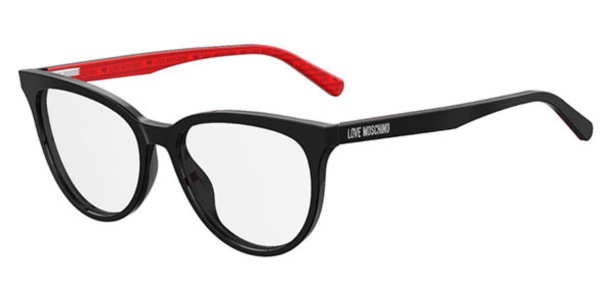 Moschino Love MOL519 807 Women's Glasses Black Size 53 - Free Lenses - HSA/FSA Insurance - Blue Light Block Available