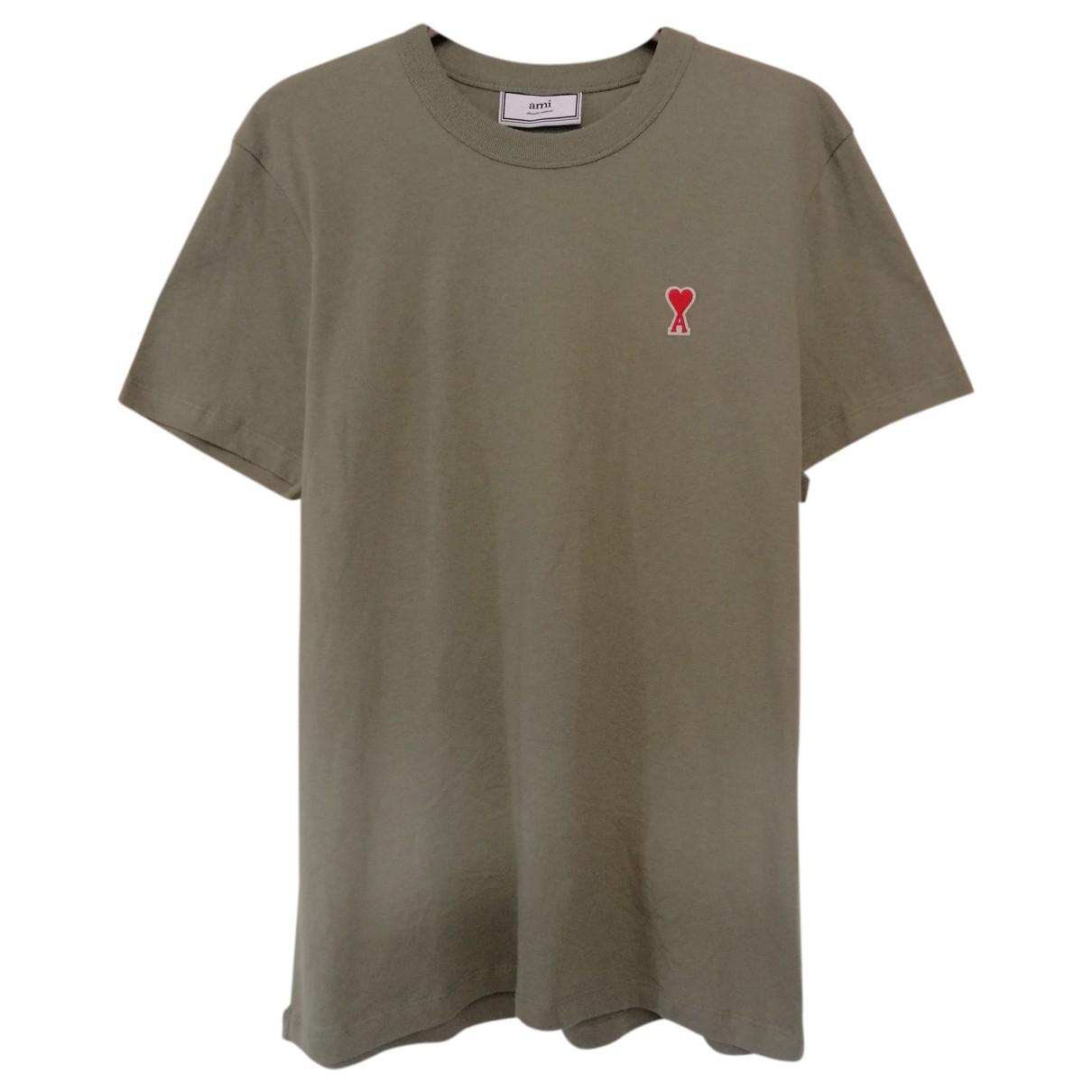 Ami - Tee shirts   pour homme en coton - vert