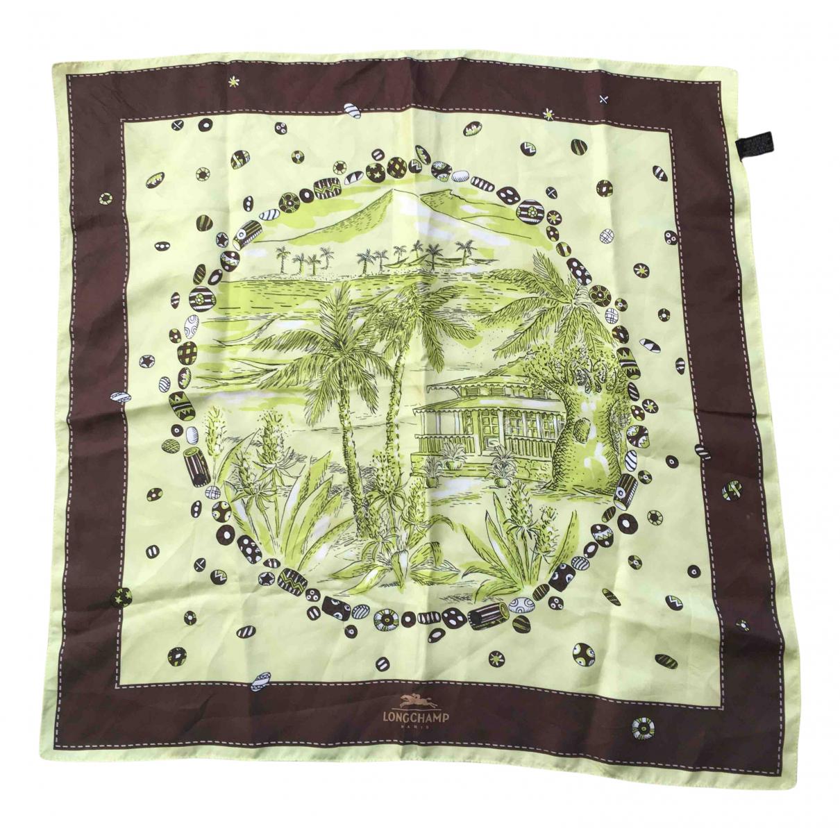 Longchamp N Green Silk Silk handkerchief for Women N