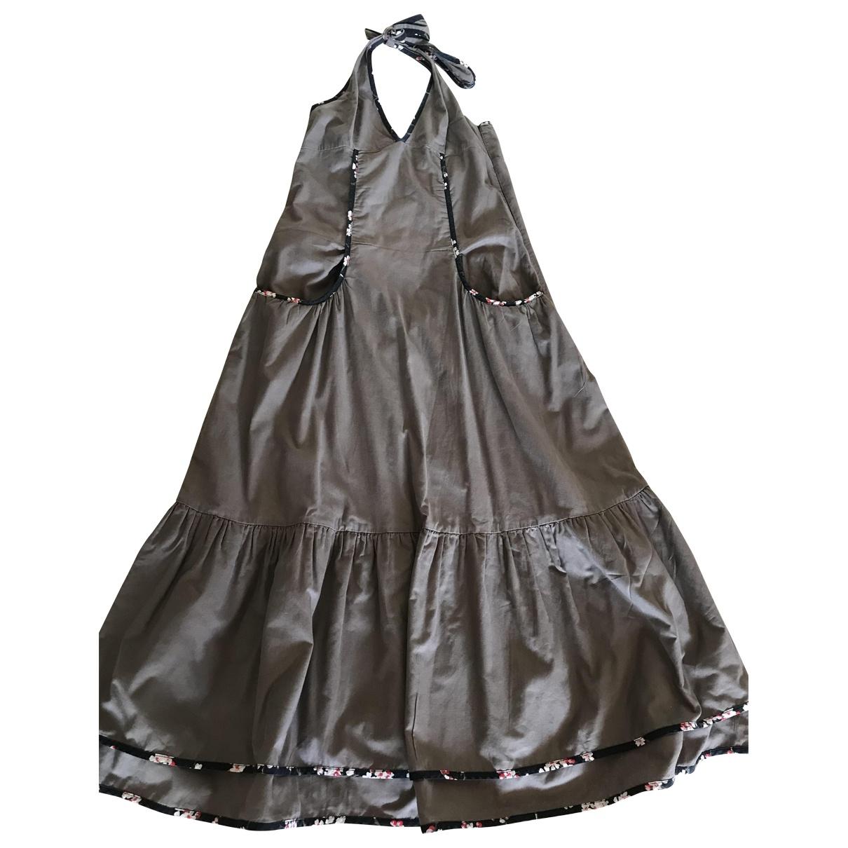 Kenzo \N Kleid in  Braun Baumwolle