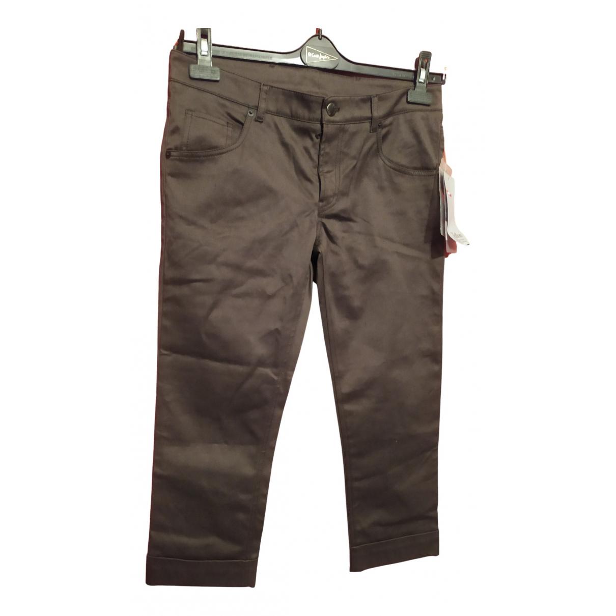 Prada \N Green Cotton Trousers for Women 42 IT