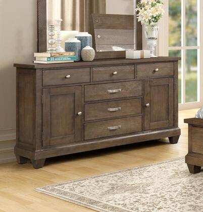 Sherwood Collection SH400-DR Dresser with 6 Drawers and 2 Storage Cabinets in Antique Oak