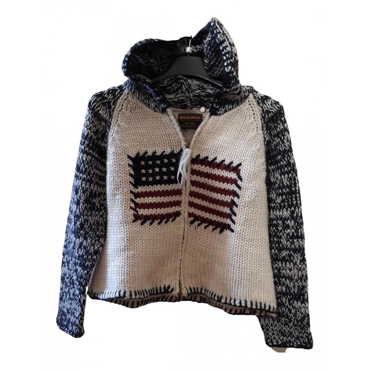 Woolrich - Pull   pour enfant en laine - beige