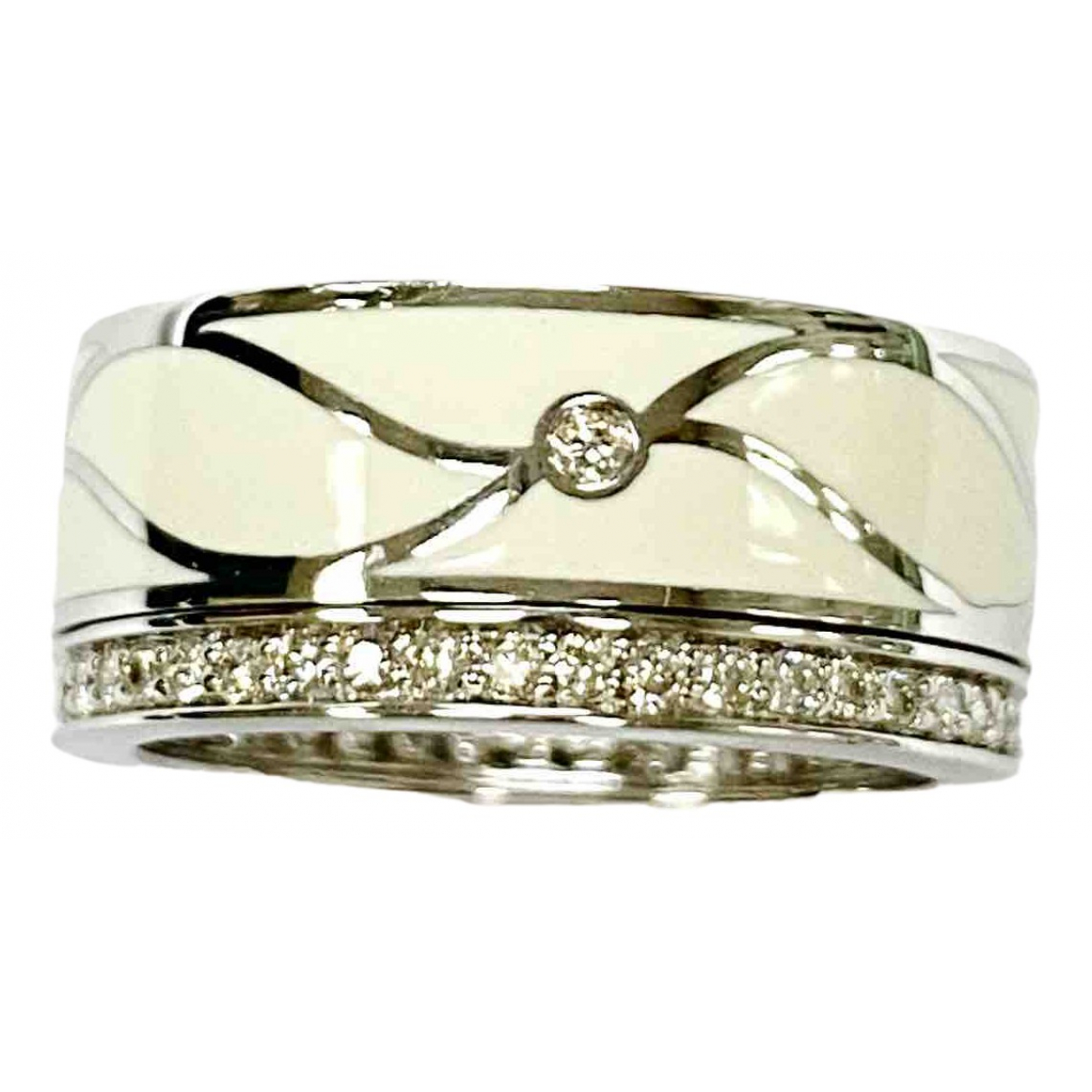 Non Signé / Unsigned \N White White gold ring for Women 53 EU