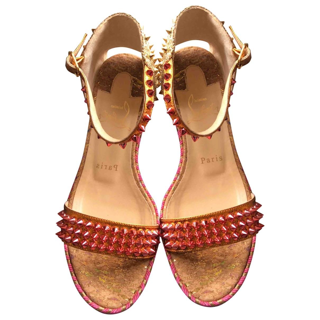 Christian Louboutin Cataclou Multicolour Leather Sandals for Women 37 EU