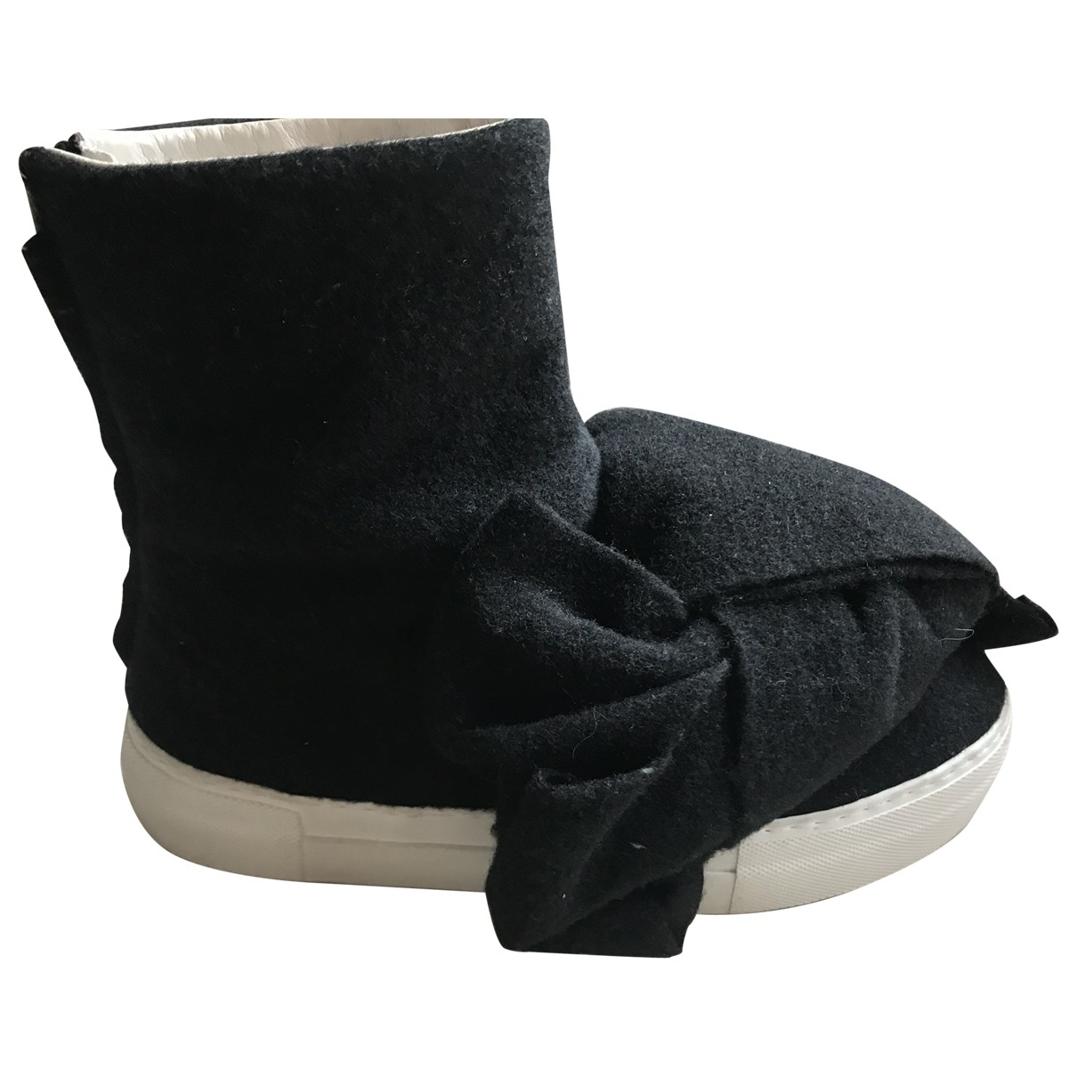 Joshua Sanders \N Black Cloth Ankle boots for Women 37 EU
