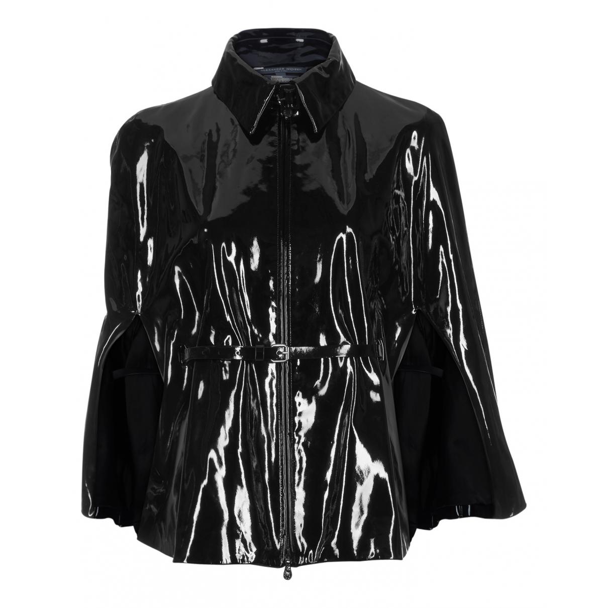 Alexander Mcqueen - Veste   pour femme en cuir - noir
