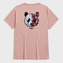 Men Panda & Geo Print Tee