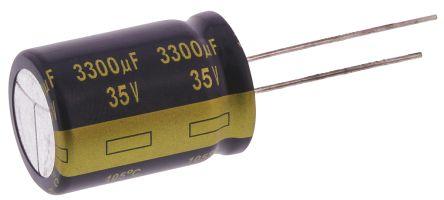 Panasonic 3300μF Electrolytic Capacitor 35V dc, Through Hole - EEUFK1V332S (5)