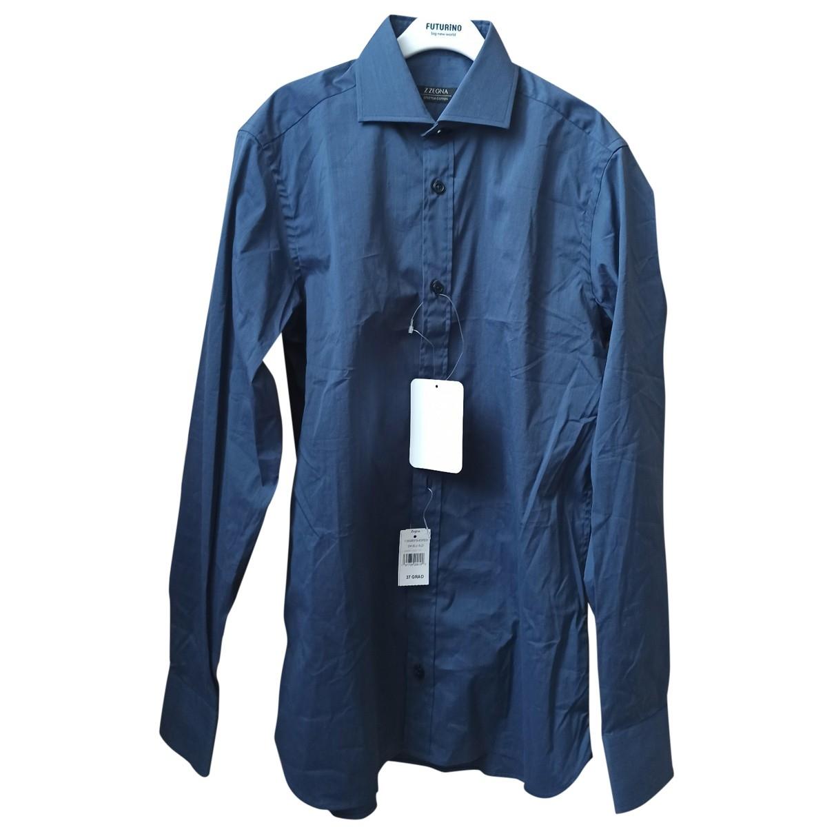 Z Zegna \N Hemden in  Blau Baumwolle