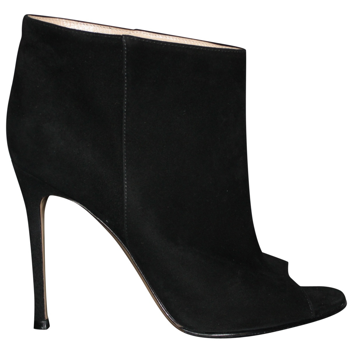 Gianvito Rossi \N Black Suede Ankle boots for Women 37.5 EU
