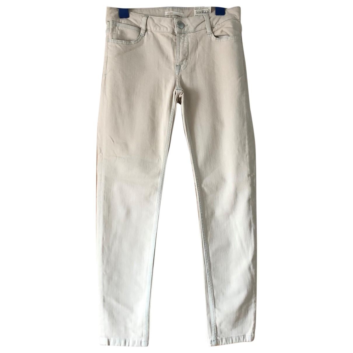 Maje \N Beige Cotton Trousers for Women 36 FR