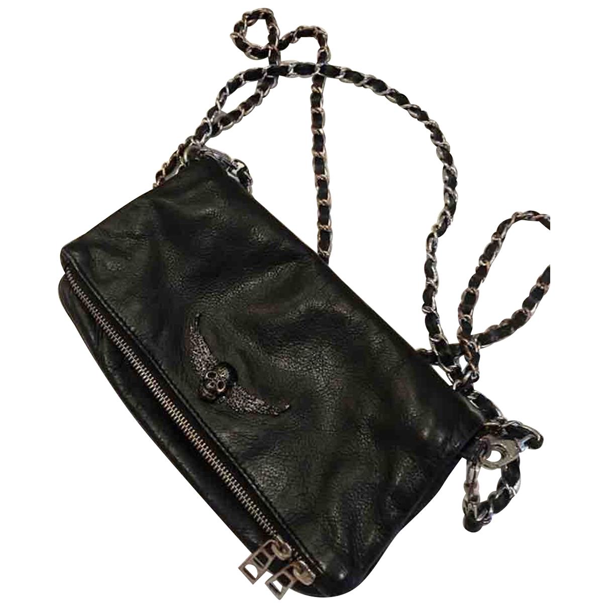 Zadig & Voltaire - Sac a main   pour femme en cuir - noir