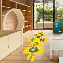 1 Set Kinder Bodenaufkleber mit Karikatur Grafik