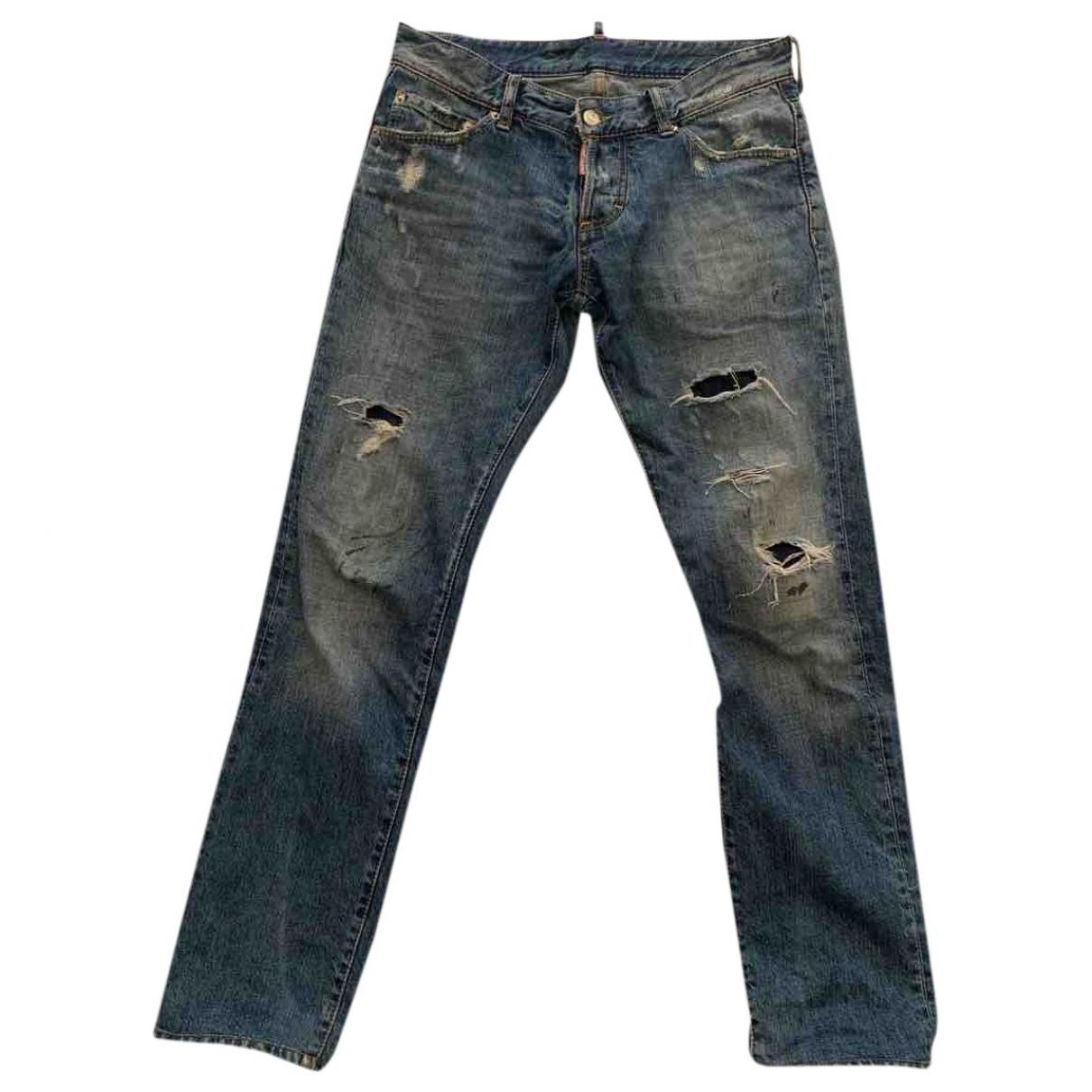Dsquared2 \N Blue Cotton Jeans for Men 42 FR