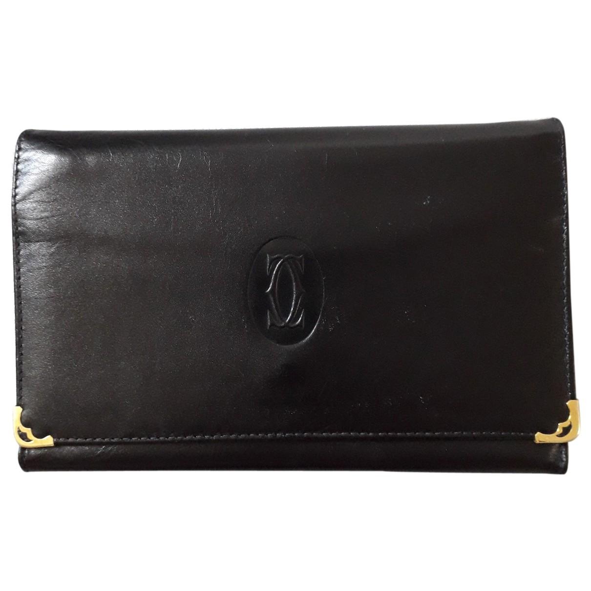 Cartier \N Clutch in  Schwarz Leder