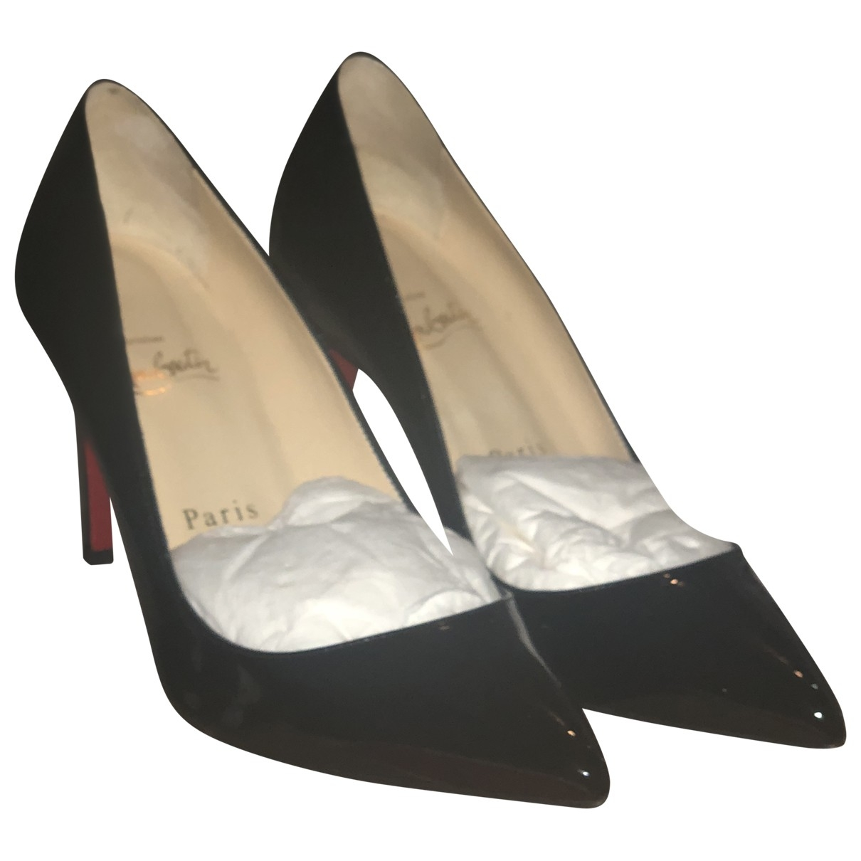 Christian Louboutin Pigalle Pumps in  Schwarz Lackleder