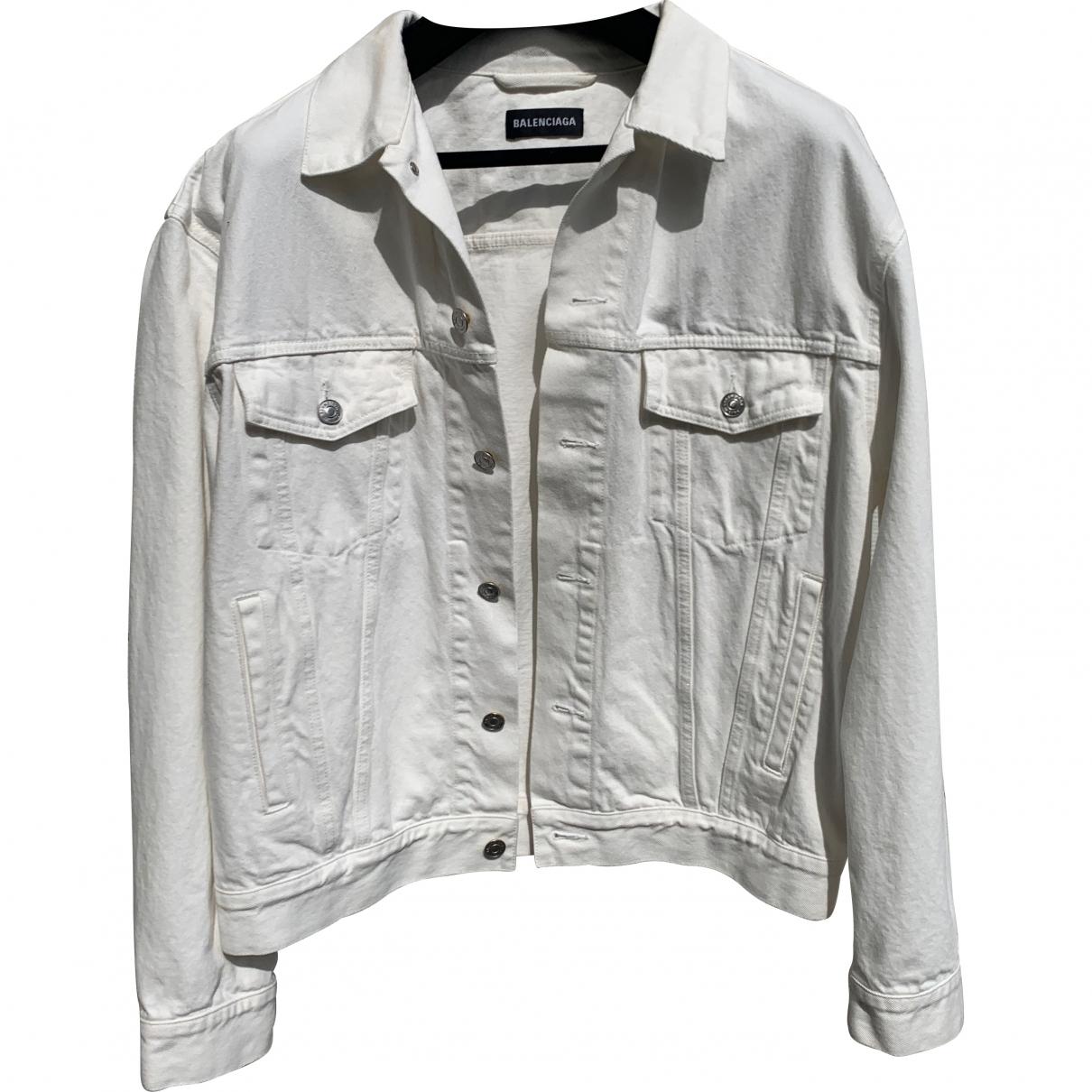 Balenciaga \N White Denim - Jeans jacket  for Men 46 FR