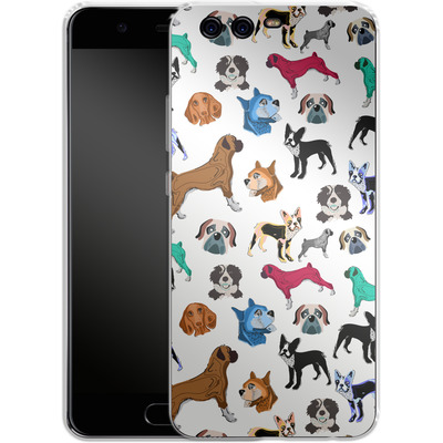Huawei P10 Silikon Handyhuelle - Puppy Love von Mukta Lata Barua