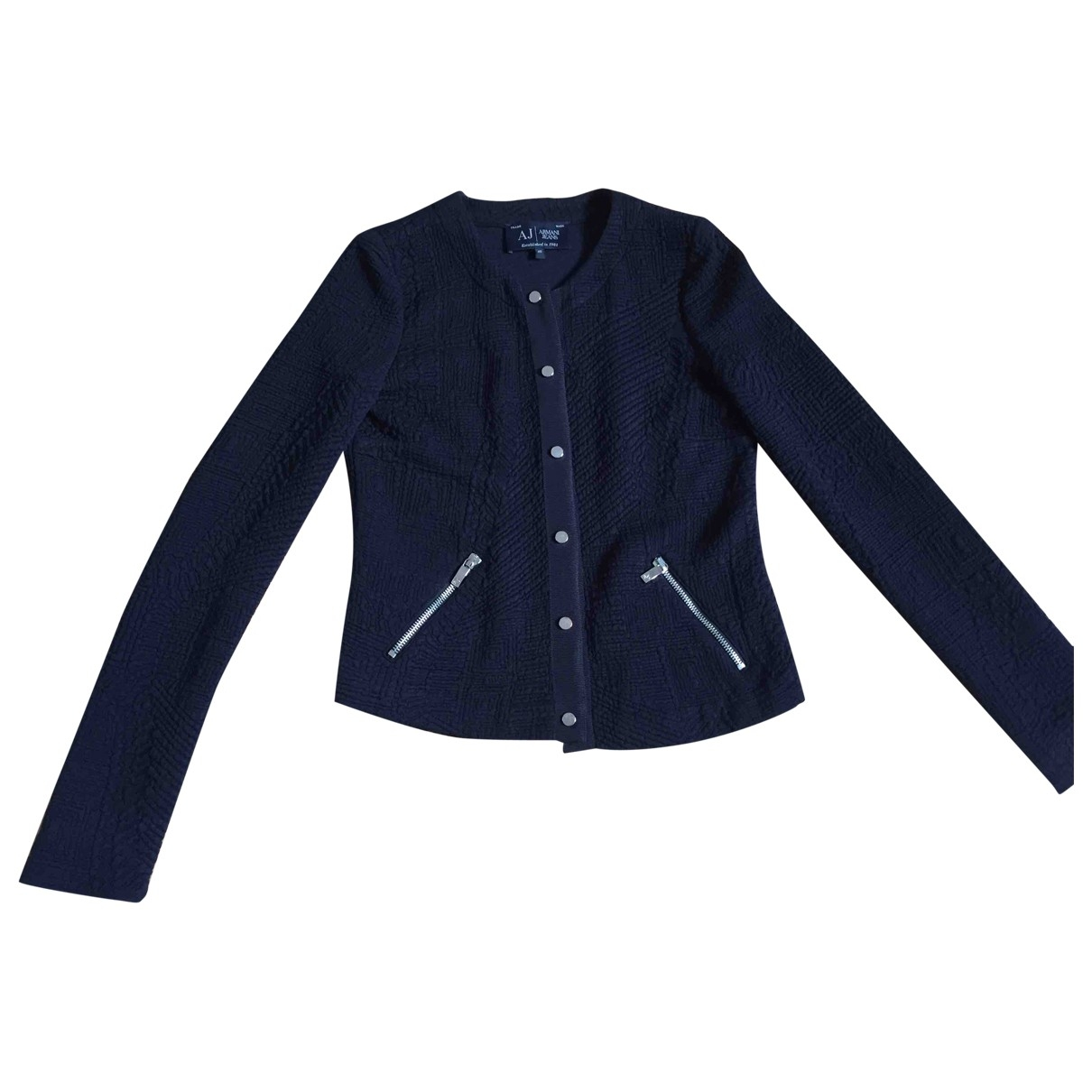 Armani Jeans \N Jacke in  Marine Synthetik
