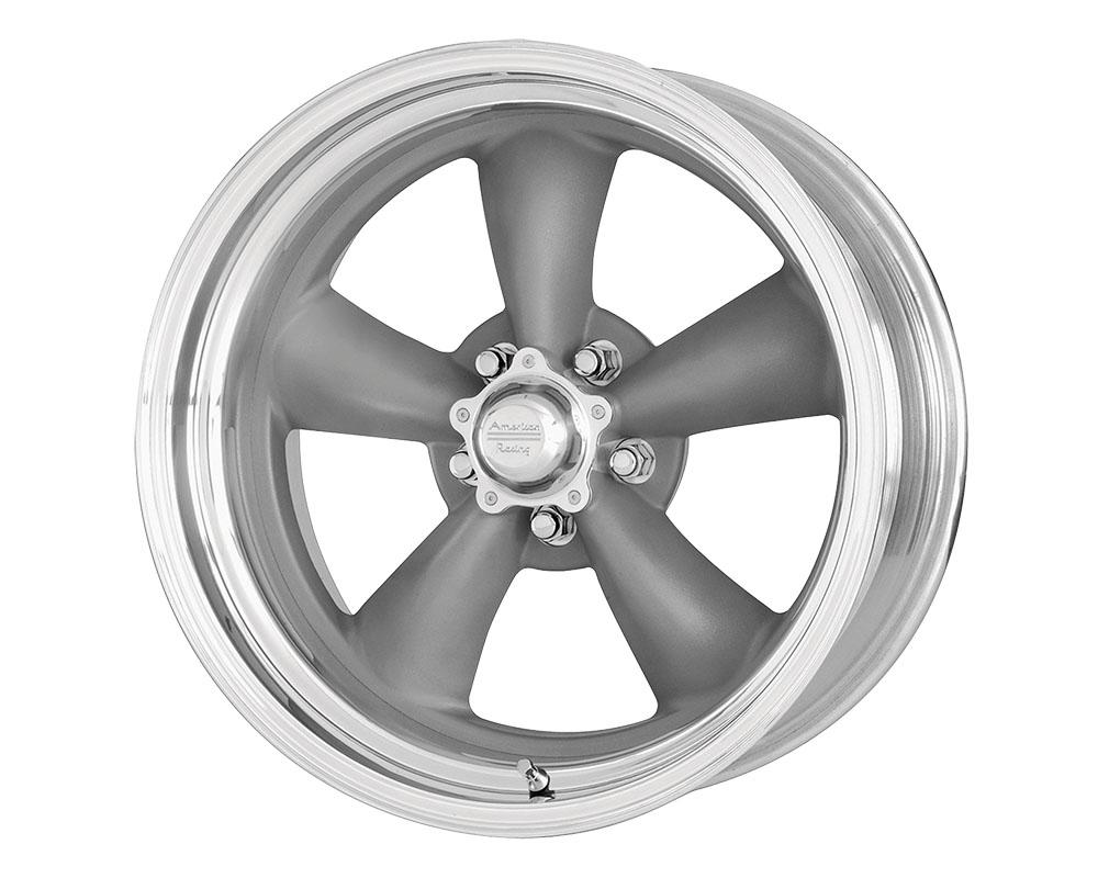 American Racing VN215 Classic Torq Thrust II 1 PC Wheel 17x8 5x5x114.3 -11mm Mag Gray Machined Lip