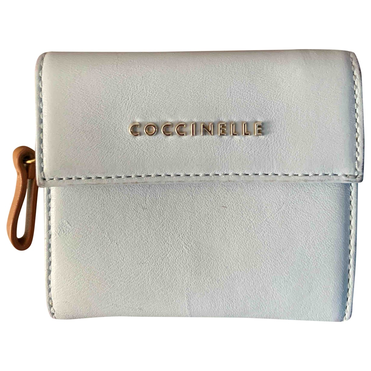 Coccinelle \N Portemonnaie in  Blau Leder