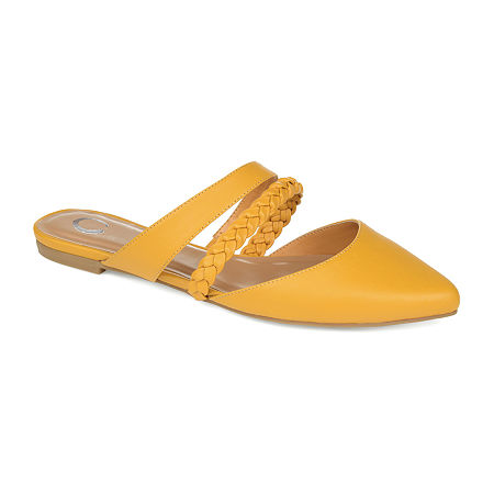 Journee Collection Womens Olivea Slip-On Shoe, 6 Medium, Yellow
