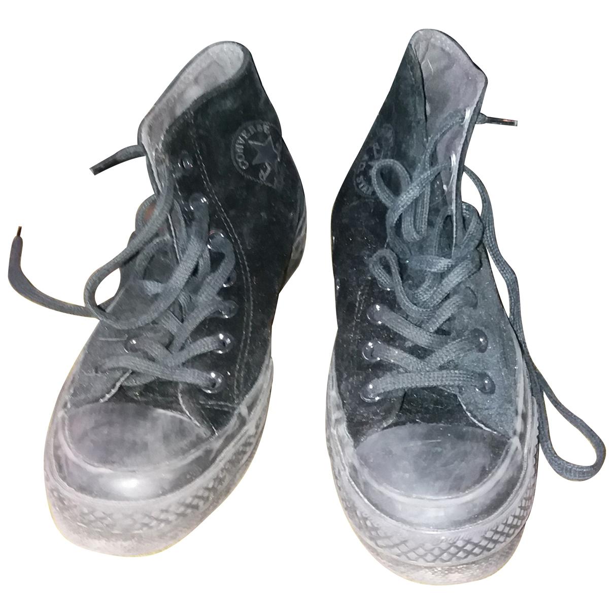 Converse - Baskets   pour femme en suede - noir