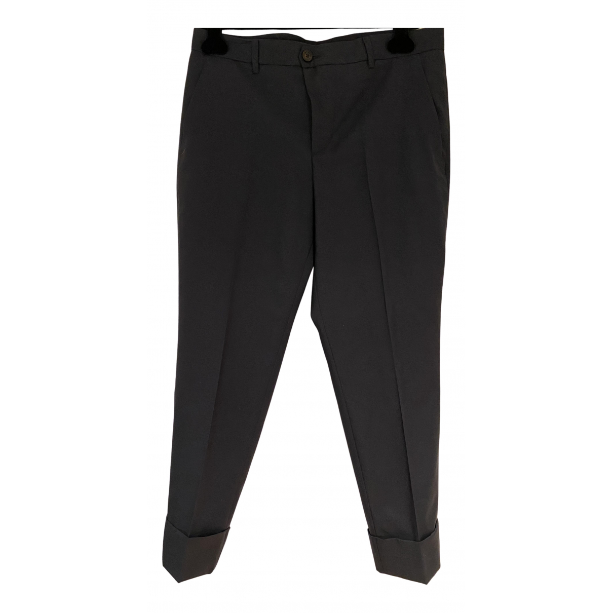 Miu Miu N Blue Wool Trousers for Women 42 IT