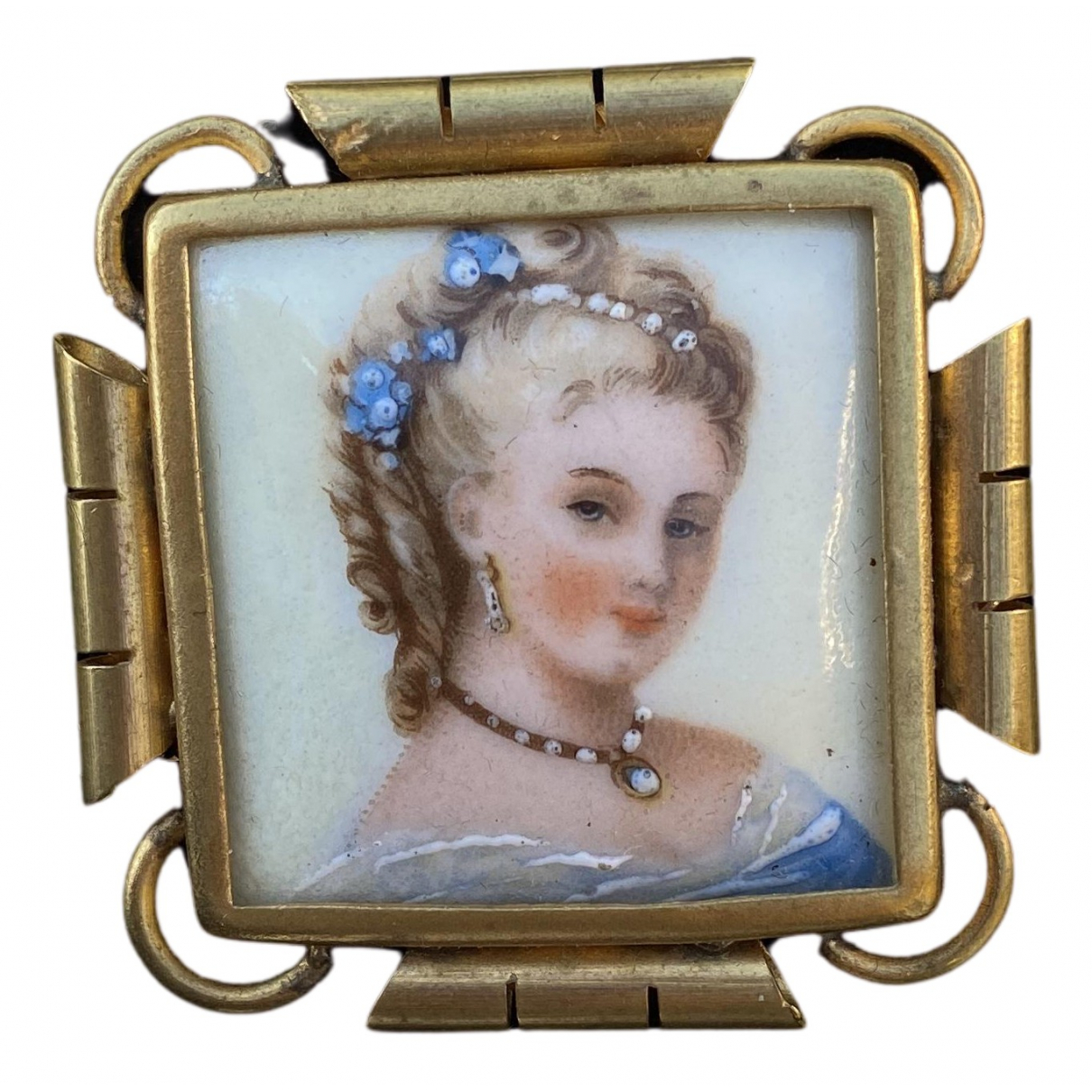 Non Signé / Unsigned N Metallic Porcelain Pins & brooches for Women N