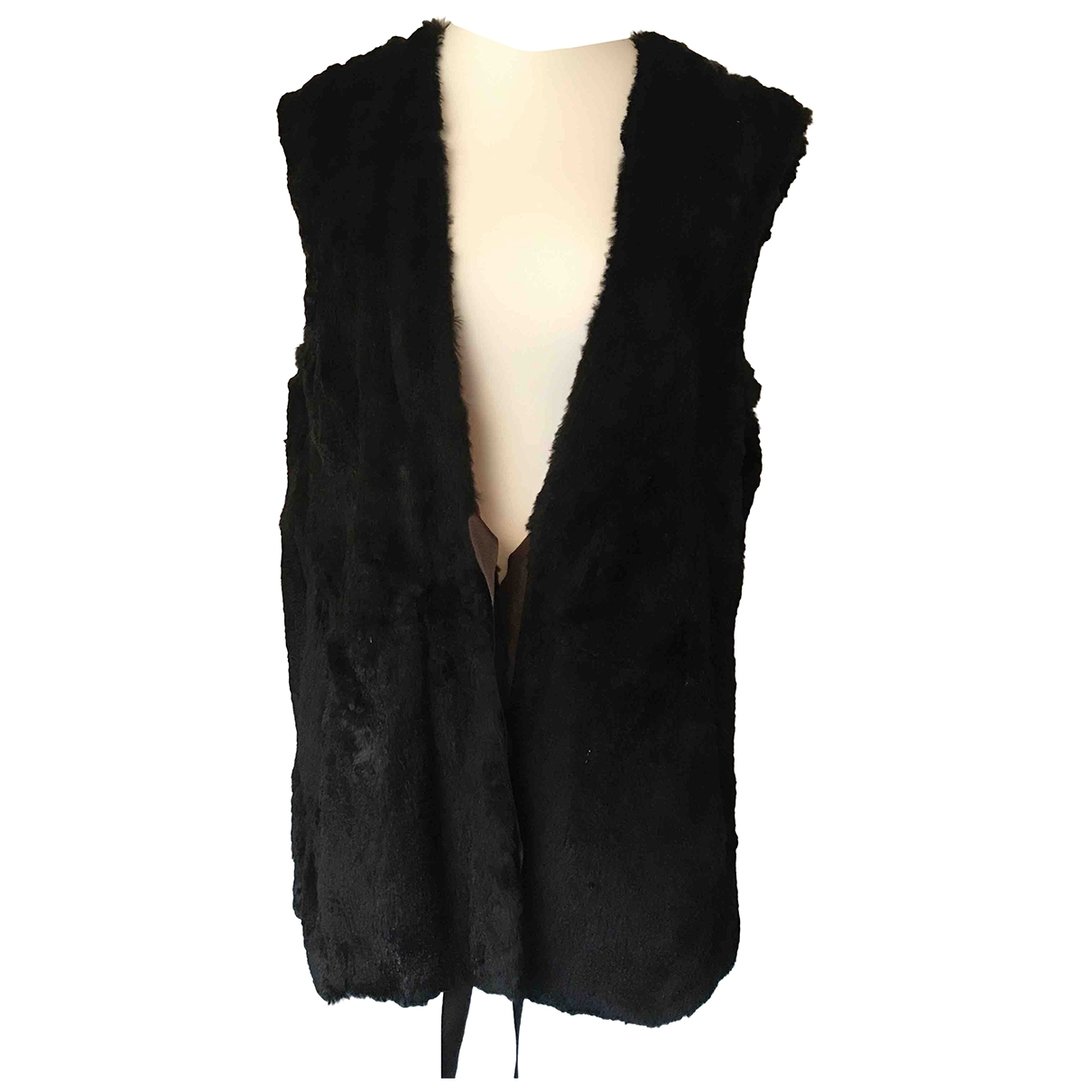Non Signé / Unsigned \N Black Rabbit jacket for Women One Size International