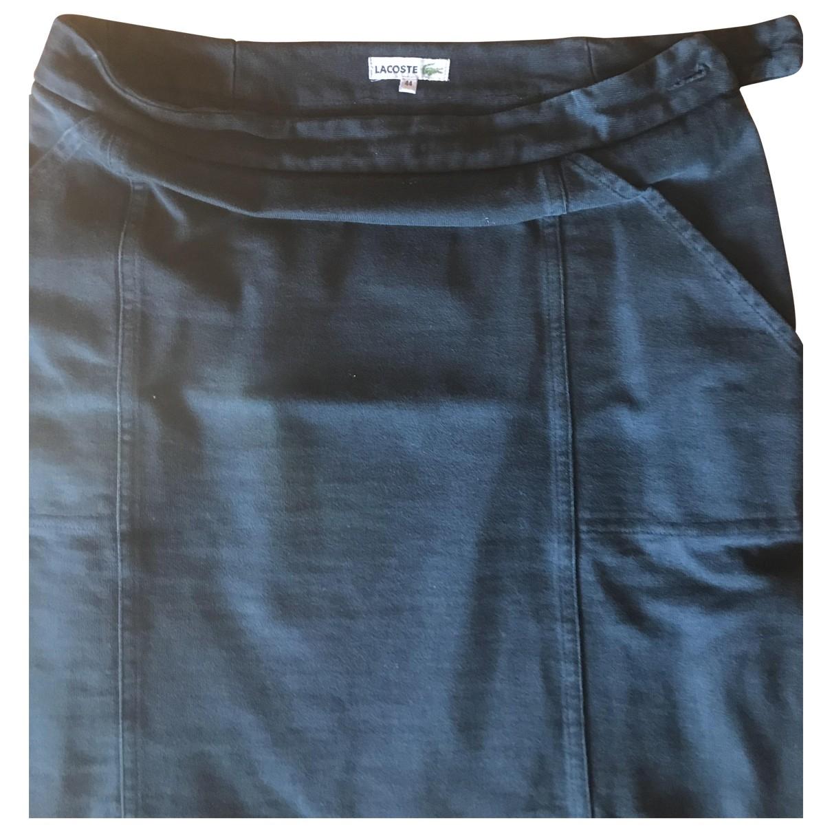 Lacoste - Jupe   pour femme en coton - elasthane - bleu