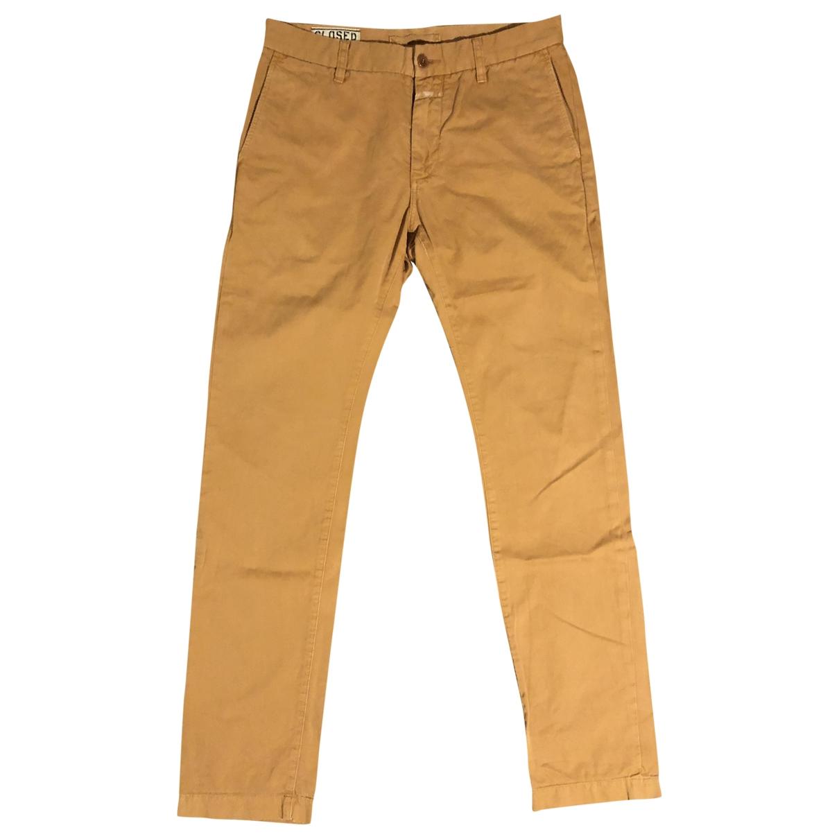 Closed \N Khaki Cotton Trousers for Men 30 UK - US