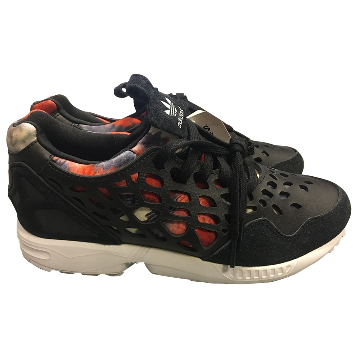 Adidas ZX Black Leather Trainers for Women 7 US