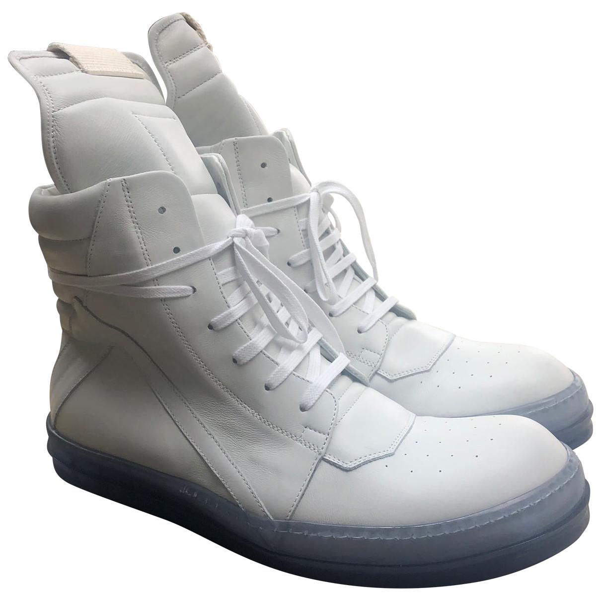 Rick Owens \N Sneakers in  Weiss Leder