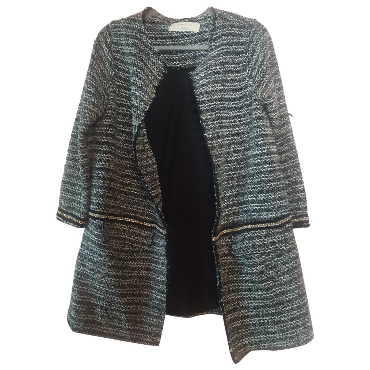 Zara \N Anthracite Wool coat for Women 40 FR