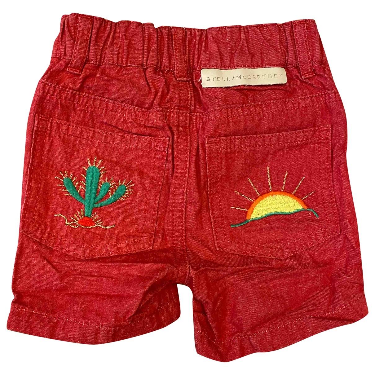 Stella Mccartney \N Shorts in  Rot Denim - Jeans