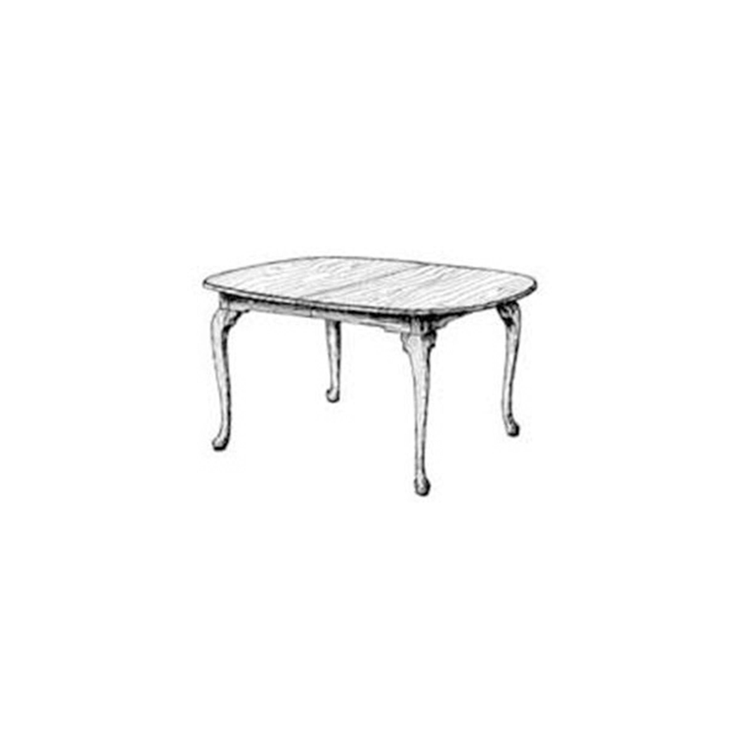 Woodworking Project Paper Plan to Build Queen Anne Dining Table