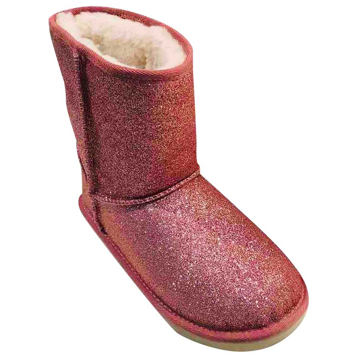 Ugg \N Pink Leather Ankle boots for Women 36 EU