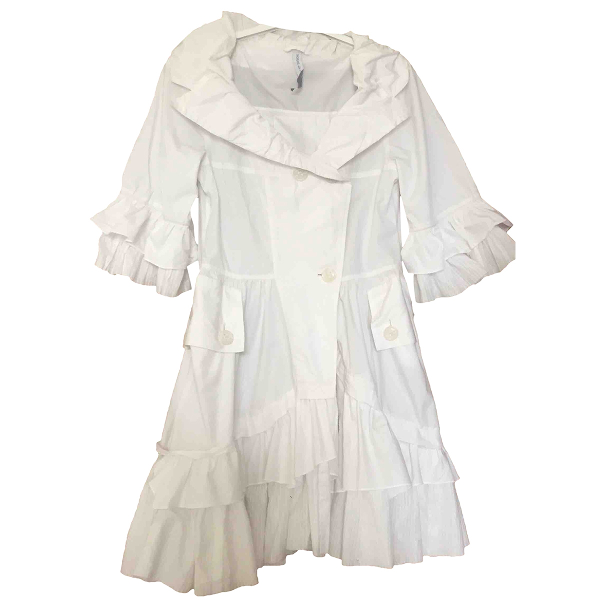 Non Signé / Unsigned \N White Cotton dress for Women 40 IT