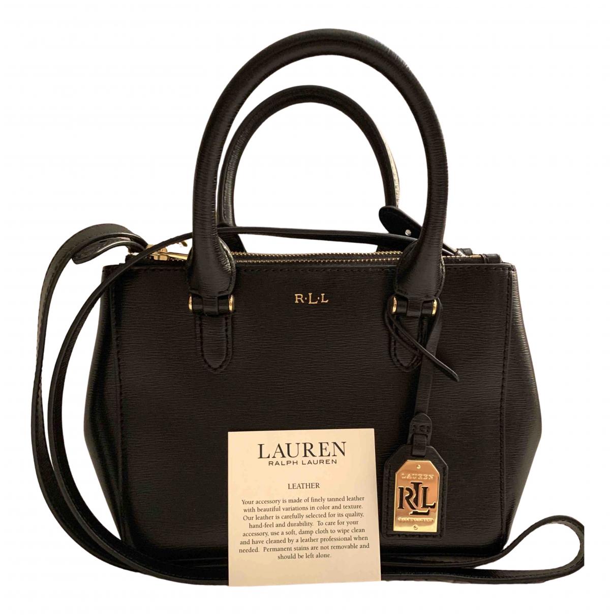 Lauren Ralph Lauren - Sac a main   pour femme en cuir - noir