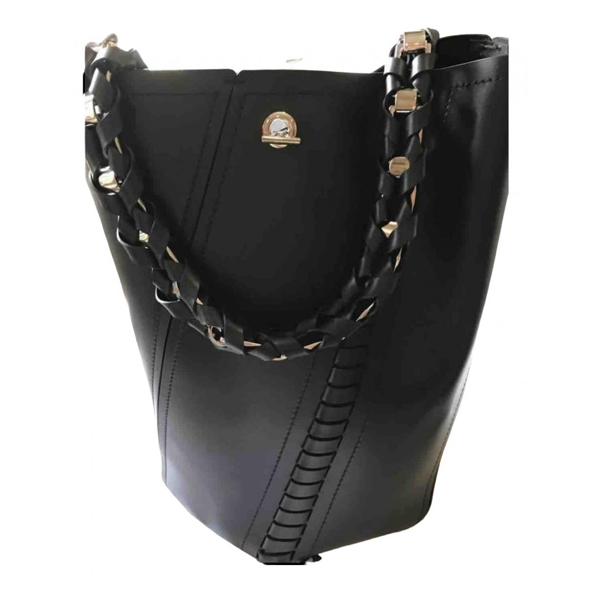 Proenza Schouler Hex Handtasche in  Schwarz Leder